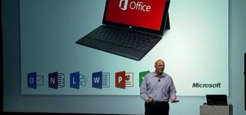 MS Project 2013, MS Project Server 2013, MS Project Online 2013: Уникальное фото. В ходе презентации Стива Балмера Microsoft Project не был назван в числе компонентов Microsoft Office 2013